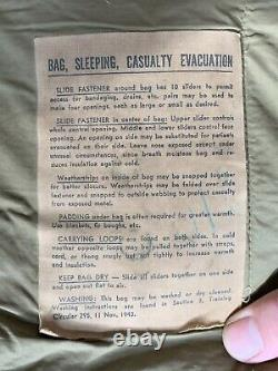 1943 Genuine U. S. Military Extreme Cold Weather Sleeping Bag Army Marines Old