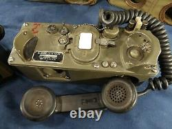 2 VTG Military Army Field Phone Telephones +Cases TA-312/PT Free Ship to the USA