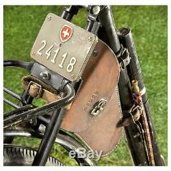 22 Army Bicycle Swiss Military Surplus Collectible Leather Saddle Single Speed