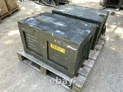 2x Ex Army Wooden Crate JOB LOT Military Wood Box Case Upcycle Rustic Coffee