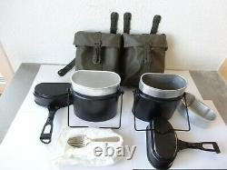 2x Swiss Army Military Canteen Bottle with original Bag 1995 Mess Kit, Spork
