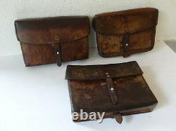 3x Swiss Army Military Leather Bag Card Holder Officier Switzerland package