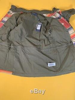 $598 Polo Ralph Lauren Repair Patchwork Southwestern Aztec Military Field Jacket