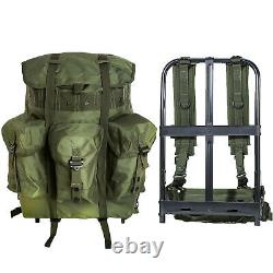 AKMAX Military ALICE Pack Medium Rucksack Army Bag with Frame/Straps Olive Drab