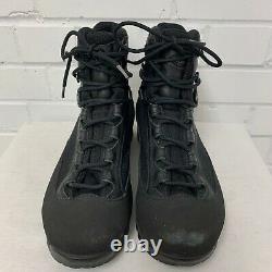 AKU BLACK LEATHER HIGH LIABILITY COMBAT BOOTS Size 7 Medium, British Military