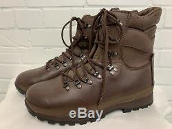 ALTBERG BROWN LEATHER DEFENDER BOOTS Size 11 Medium British Army Military