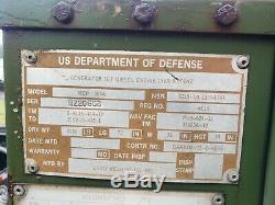 ARMY SURPLUS GENERATOR With 2 WHEEL TRL, 15KW, 50/60Hz. 240/416 V. ENCLOSED