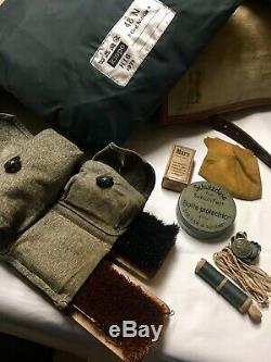 Amazing vintage Swiss army military backpack with Original Army Utensils 1950s