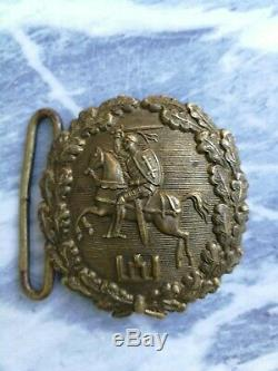 Antiques, Collectible Lithuanian military army officer's buckle Vytis, 1918-1940