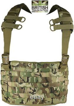 Army Combat Military Chest Rig Molle Assault Vest Webbing Pack Bag Surplus New