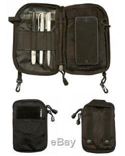 Army Combat Military Pocket Buddy Bag Travel Organizer Bum Map Belt Folder Black