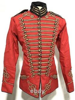 Army Military Gold Hussar Red/Black Jacket In 40,42,44,46,48