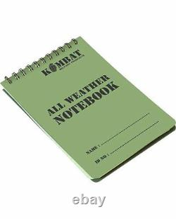Army Military Note Pad Paper Book Waterproof Water Proof Dry Spiral A6 Notepad