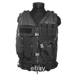 Army USmc Tactical Assault Combat Military Vest Pouches Holster Carrier Black
