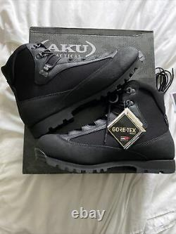 BNIB AKU Goretex Tactical Walking Military Boots Black Size 10 L High Liability