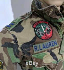 BNWT Ralph Lauren Mens Field Jacket Camouflage Combat Surplus 1943 Sz L RRP£389