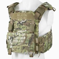 BULLDOG QR KINETIC ARMOUR PLATE CARRIER Military Army MOLLE Vest MTC Camo MTP