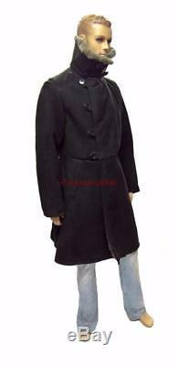Bekesha Black Jacket Russian Army Officer Winter Sheepskin Coat USSR TULUP Warm