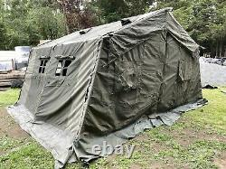British Army 12x12 Tent Rare Mk1 Military Tent Shelter Old School Canvas Part