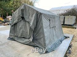 British Army 9x9 Canvas Land Rover Tent Military COMPLETE 4x4 Expedition Tent