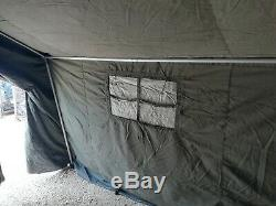 British Army 9x9 Land Rover Tent VGC COMPLETE Military Surplus Command Tent