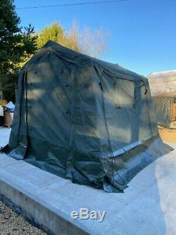 British Army 9x9 WOLF Tent Land Rover Command Military Canvas Complete VGC
