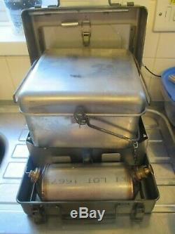 British Army Diesel Cooker Stove VGC Camping Fishing Military Surplus MOD + pot
