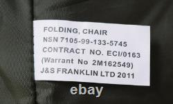 British Army Military MOD Folding Canvas Chair Current Issue New