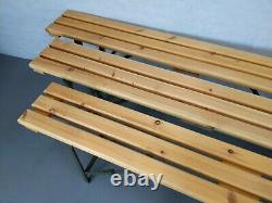 British Army Military MOD Wooden Trestle Folding Bench
