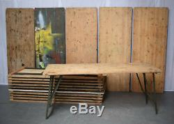 British Army Military Wooden Trestle Folding Table