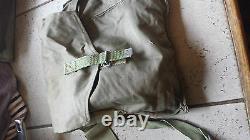 Cotton Military Shoulder Bag, Vintage Canvas Army Surplus Travel Retro Bag