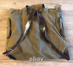 East German Army Military Vintage Rucksack GDR VEB Taucha 1980s Canvas Leather