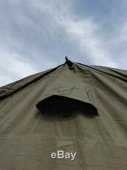 Ex Army 12x12 Mk2 Canvas Frame Military Tent BBQ Garden Event Shelter Grade 2