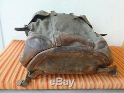 Fine Big Swiss Army Military Backpack Rucksack 1950 Canvas Salt & Pepper