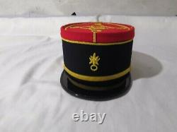 French Military Kepi, France Army Embroidery Cap, Officer Peak Embroidered Hat