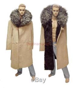 Fur TULUP Russian Army Soldier Guard Winter Bekesha Sheepskin Military Coat USSR