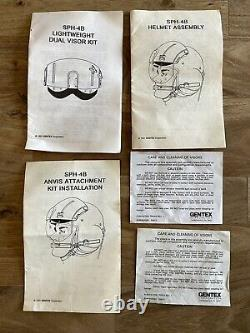 Gentex SPH-4B Military Helicopter Pilots Helmet With ANVIS Mount and replica NVG