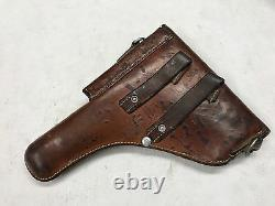 Genuin Swiss Military Leather Pistol Holster to SIG 210 / P49 made in 1960