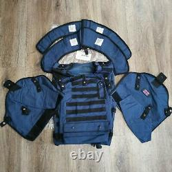 Genuine British Military Blue Civilian Mk 111 Body Armour Cover Vest 190/120 CM