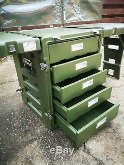 Genuine British Military Outdoor Field Desk / Portable Office Army Table Drawers