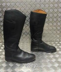 Genuine Ex-British Military Regent Mounted Regiment Leather Riding Boots Faulty