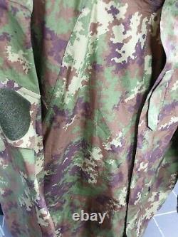 Genuine Italian Army Goretex Vegetato Camouflage Jacket Waterproof Coat Military
