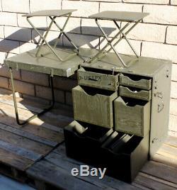 Genuine Us Military M1952 Wood Field Desk Usgi Usmc Army Gi Table Drawer Vintage