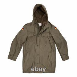 German Parka Original Army Jacket Military Fleece Lined Winter Hooded Coat Olive