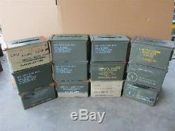 Grade 2 12 Pack 50 Cal Ammo Can Box Army Military M2A1 Metal Storage 5.56