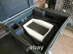 HARDIGG MILITARY STORAGE CONTAINER 27x25x14 ARMY SURPLUS HEAVY DUTY HINGED