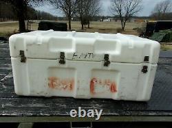 HARDIGG MILITARY SURPLUS STORAGE CONTAINER CASE JOB TOOL BOX 37x21x16 ARMY CHEST