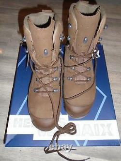 Haix Desert Combat High Liability Mens Brown Suede Boots Size 10m New