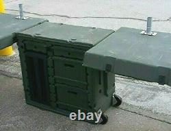 Hardigg Military Army Green Mobile Office Field Desk Duel 2 Desk Design