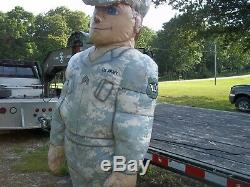 Large Inflatable Army Soldier Man Military Surplus Prop Store Display. No Motor